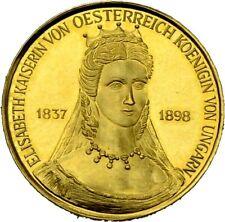 PRAGER: Österreich, Sissi, Goldmedaille .900 GOLD, 3,15 g Feingold  [1417]