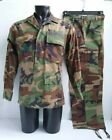 Woodland Camouflage Army Combat Coat & Trousers Pants Small Regular Size