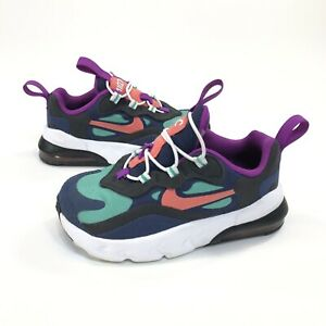 Nike Air Max 270 RT Toddler Shoes CW7007-400 Blue Green Purple Size 7C