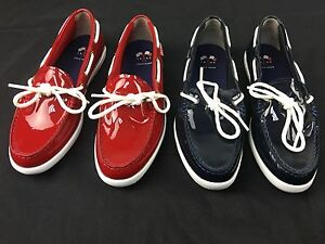 Cole Haan Women's Nantucket Camp MOC  Patent Leather Shoes