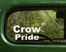 2 CROW INDIAN PRIDE STICKERs Native American Decal Car Laptop Truck Bumper