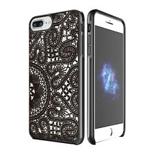 "Prodigee Show Black Lace iPhone 7 PLUS 5.5"" Clear Transparent Case Slim Cover"