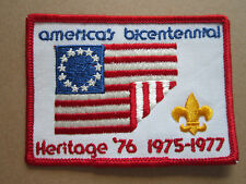 Heritage 76 Bicentennial BSA Woven Cloth Patch Badge Boy Scouts Scouting