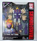 Transformers Titans Return Voyager Class Decepticon Hazard and Blitzwing New