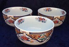 Imari Gohan Soup Rice Bowls - Set Of 3 - Excellent Condition!