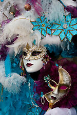 STUNNING Venetian Carnival Party Mask Canvas #18 Wall Hanging Picture Art A1