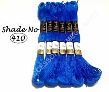 6 BLU COTONE ANCORAGGIO FILO matassine / Floss RICAMO Fast Basic colore solido