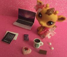 LPS-Pink Lace Outfit Laptop Tablet Phone Bow Collar Sweets Earring-Accessories
