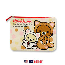 San-x Rilakkuma Canvas Pencil Case Cosmetic Multi Purpose Pouch
