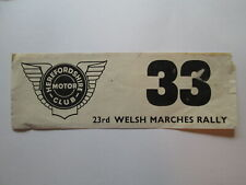 Welsh Marches rally decal. Rally car decal.Herefordshire motor club.