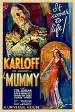 """1930s """"The Mummy"""" Classic Vintage Style Classic Monster Movie Poster - 16x24"""