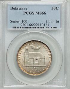 1936-P Delaware Silver Commemorative Half Dollar 50C PCGS MS 66
