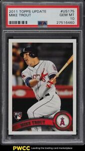 2011 Topps Update Mike Trout ROOKIE RC #US175 PSA 10 GEM MINT