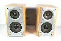 C341 Panasonic SB-PM25 HiFi Stereo Bookshelf Speakers bi wired 35w speaker wires