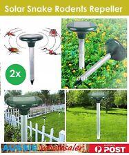 2x Multi Pulse Plus Ultrasonic Solar Snake Repeller & Pest Rodent Repellent