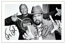 DR DRE & ICE CUBE SIGNED PHOTO PRINT AUTOGRAPH NWA RAP