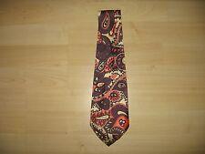 Authentic Vintage 1960'S Men'S Wild Paisley Tie, Excellent