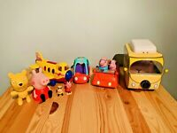 Peppa Pig Toys Bundle Plane Cars Camping Van & Figures with Sounds