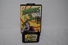 ZOMBIES ATE MY NEIGHBORS SEGA GAME AND CASE GREAT CONDITION