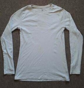 GAP Ladies White Long Sleeved T Shirt Large Women's 12-14 UK