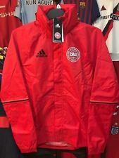 a4d6ea13b5e adidas Performance Mens Denmark Football Hooded Rain Jacket Coat - Red XS