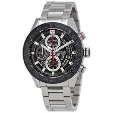 Tag Heuer Carrera Skeleton Dial Automatic Mens Chronograph Watch CAR201V.BA0714
