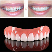 False Dentures Teeth Perfect Instant Smile Comfort Fit Flex Dental Top Cosmetic
