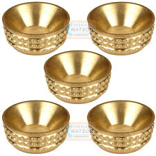 Pack 5 - No.6 Brass Screw Sockets Decorative Cup Washer Cabinet Furniture