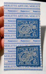COPPIA FRANCOBOLLI ITALIA € 2,80 - ARTE DEL MERLETTO