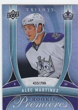 ALEC MARTINEZ 2009-10 UPPER DECK TRILOGY ROOKIE PREMIERES RC #433/799 #137 KINGS