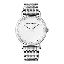Georg Jensen KOPPEL Ladies' Watch # 424 with White Dial and Steel Bracelet