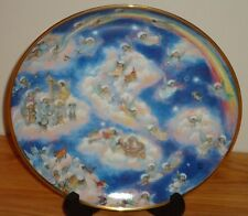 "HEAVENLY DAYS Angels Dogs Cats in Heaven BILL BELL 8"" collector's plate"