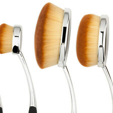 5PCS Toothbrush Elite Oval Multipurpose Makeup Brushes Set Silver + Black