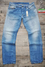 Diesel Long Low Rise Classic Fit, Straight Jeans for Men