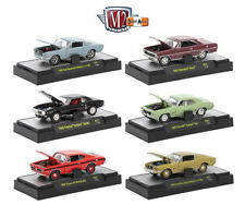 M2 MACHINES 1:64 DETROIT-MUSCLE RELEASE 32600-37 PLASTIC DISPLAY CASE SET OF 6