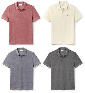 Lacoste Mens Caviar Piqué Polo T-Shirt Slim Fit NEW Cotton Shirt