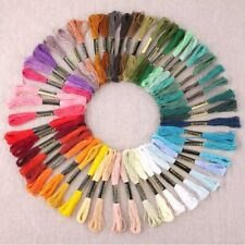 50 x Mix Colors Cotton Sewing Skeins Cross Stitch Embroidery Thread Floss Kit