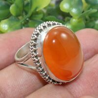 Carnelian Gemstone Jewelry 925 Sterling Silver Handmade Ring