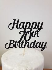Happy Birthday Cake Topper Any Age Laser Cut Glitter Card