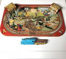 Vintage Marx DISNEY TIN Lotho WIND-UP TRAIN Set MICKEY MOUSE & FRIENDS ****Read!