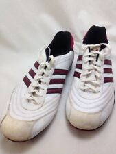 Adidas Original Goodyear Shoes Mens 13 Street Leather White Maroon Red