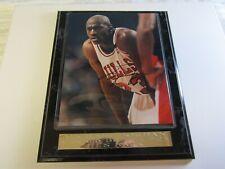 Michael Jordan signed  Photo COA Plaque Autographed basketball Chicago Bulls HOF