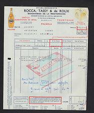 "MARSEILLE (13) SAVONNERIE de MEDITERRANEE SAVONS ""ROCCA TASSY & DE ROUX"" en 1954"