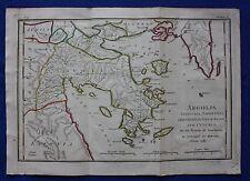 Original antique map ANCIENT GREECE, ARGOLIS, ARGOS, Barbie du Bocage, 1796