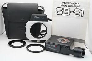 [MINT w/ Case] Nikon Speedlight SB-21 Ring Light / Macro Flash AS-12 From Japan
