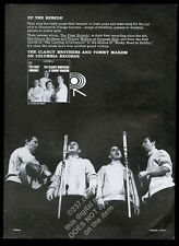 1964 The Clancy Brothers photo The First Hurrah album release vintage print ad