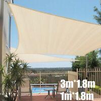1x1.8m/3x1.8m Sonnenschirm Segel Garten Terrasse Sonnenschutz Markise Baldachin