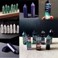 50-70MM Natural Colorful Quartz Crystal Wand Point Healing Stone Polished Decor