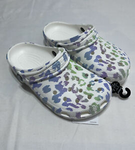 CROCS Kids Classic Animal Print Clog Pastel Leopard Junior Size: 3 206818-1D1