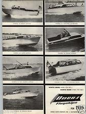 1955 PAPER AD Owens Inboard Outboard Motor Boats Sedan Express Bridge Stateroom